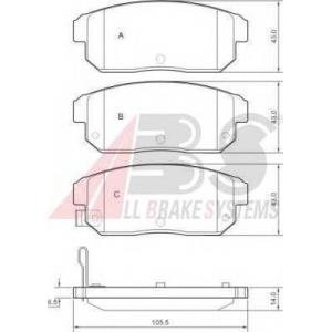 A.B.S. 37419 Комплект тормозных колодок, дисковый тормоз Мазда Р-Икс 8