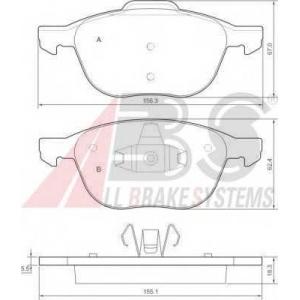 A.B.S. 37422 Комплект тормозных колодок, дисковый тормоз Форд Фокус Ц-Макс