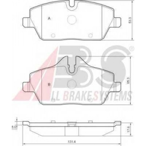 A.B.S. 37434 Комплект тормозных колодок, дисковый тормоз Мини