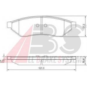 A.B.S. 37438 Комплект тормозных колодок, дисковый тормоз Дэу Еванда