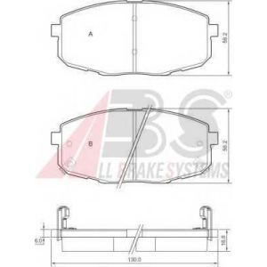 A.B.S. 37442 Комплект тормозных колодок, дисковый тормоз Киа Каренс