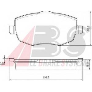 ABS 37444 Комплект тормозных колодок, дисковый тормоз