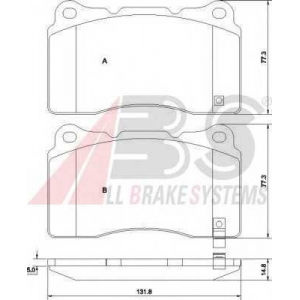 A.B.S. 37447 Комплект тормозных колодок, дисковый тормоз Митсубиси Л 400
