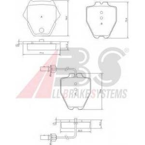 A.B.S. 37448 Комплект тормозных колодок, дисковый тормоз Ауди Оллроад