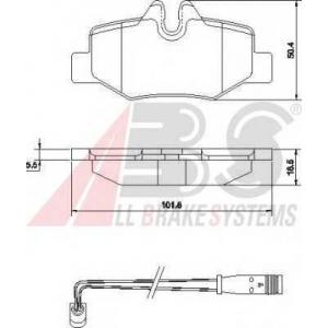 A.B.S. 37450 Комплект тормозных колодок, дисковый тормоз Мерседес Виано