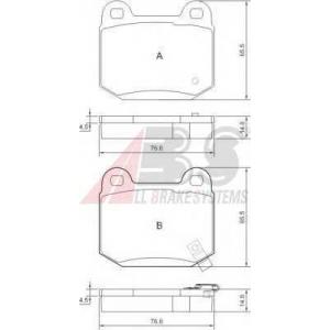 Комплект тормозных колодок, дисковый тормоз 37452 abs - SUBARU IMPREZA седан (GD, GG) седан 2.0 WRX Turbo