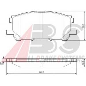 A.B.S. 37458 Комплект тормозных колодок, дисковый тормоз Лексус Р-Икс