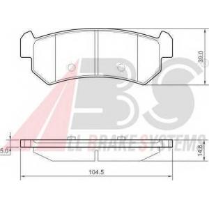 A.B.S. 37461 Комплект тормозных колодок, дисковый тормоз Дэу Лацетти