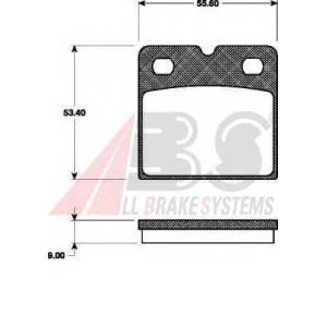 A.B.S. 37467 Комплект тормозных колодок, дисковый тормоз