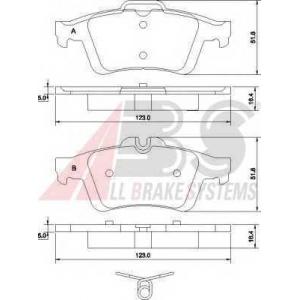 A.B.S. 37477 Комплект тормозных колодок, дисковый тормоз Форд Фокус Ц-Макс