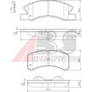 A.B.S. 37490 Комплект тормозных колодок, дисковый тормоз Дайхатсу Тревис