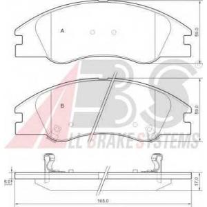 A.B.S. 37492 Комплект тормозных колодок, дисковый тормоз Киа Спектра