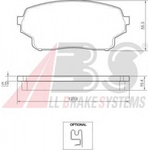 ABS 37503 Гальмiвнi колодки дисковi