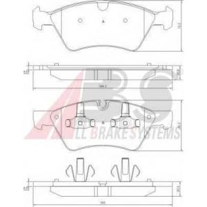 A.B.S. 37507 Колодка торм. MB M KLASSE передн. (пр-во ABS)