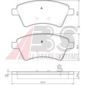 A.B.S. 37532 Комплект тормозных колодок, дисковый тормоз Фиат Седики