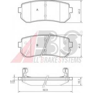 A.B.S. 37533 Комплект тормозных колодок, дисковый тормоз Хюндай Ай 20