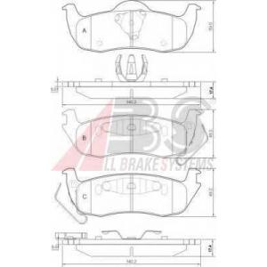 A.B.S. 37534 Комплект тормозных колодок, дисковый тормоз Джип Коммандер