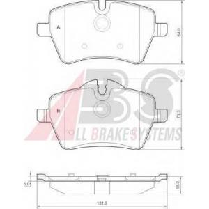 A.B.S. 37535 Комплект тормозных колодок, дисковый тормоз Мини