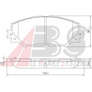 A.B.S. 37544 Колодка торм. TOYOTA AURIS/RAV4 передн. (пр-во ABS)