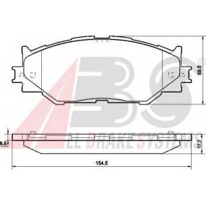 A.B.S. 37547 Комплект тормозных колодок, дисковый тормоз Лексус Ай-Ес
