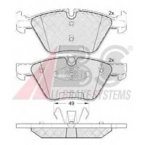 A.B.S. 37551 Комплект тормозных колодок, дисковый тормоз Ягуар Икс Тайп