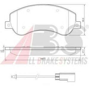 A.B.S. 37558 Комплект тормозных колодок, дисковый тормоз Форд Транзит Торнео
