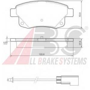 A.B.S. 37560 Колодка торм. FORD TRANSIT задн. (пр-во ABS)