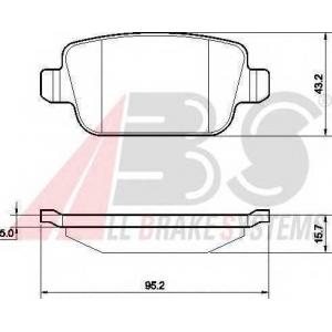 A.B.S. 37561 Комплект тормозных колодок, дисковый тормоз Форд Куга
