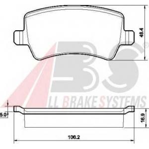 A.B.S. 37562 Комплект тормозных колодок, дисковый тормоз Форд С-Макс