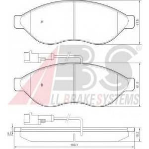 A.B.S. 37577 Колодка торм. CITROEN/PEUGEOT JUMPER/BOXER передн. (пр-во ABS)