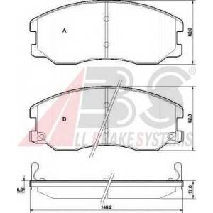 A.B.S. 37582 Комплект тормозных колодок, дисковый тормоз Шевроле Каптива