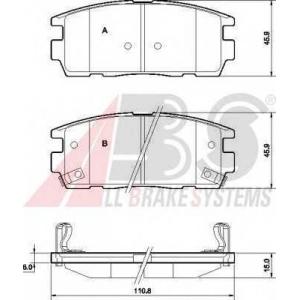 A.B.S. 37583 Комплект тормозных колодок, дисковый тормоз Шевроле Каптива