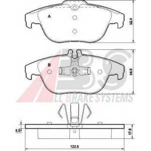 A.B.S. 37585 Комплект тормозных колодок, дисковый тормоз Мерседес Джт Л-Класс
