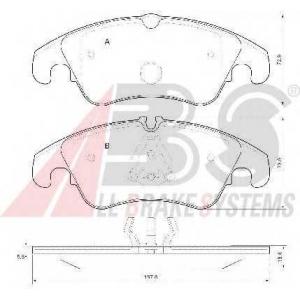 A.B.S. 37587 Комплект тормозных колодок, дисковый тормоз Ауди А4 Олроад