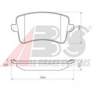 A.B.S. 37588 Комплект тормозных колодок, дисковый тормоз Ауди А4 Олроад