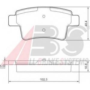 A.B.S. 37597 Комплект тормозных колодок, дисковый тормоз Ситроен С4 Пикасо