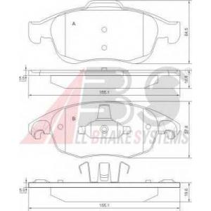 A.B.S. 37598 Комплект тормозных колодок, дисковый тормоз Ситроен Дс4
