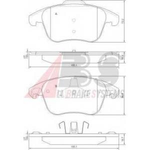 A.B.S. 37599 Комплект тормозных колодок, дисковый тормоз Ситроен Дс4