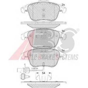 A.B.S. 37612 Комплект тормозных колодок, дисковый тормоз Ауди Кью 3