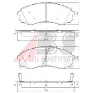 A.B.S. 37618 Комплект тормозных колодок, дисковый тормоз Хюндай Н1 Карго
