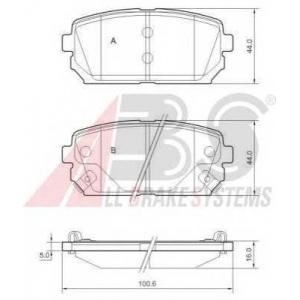 A.B.S. 37621 Комплект тормозных колодок, дисковый тормоз Киа Каренс