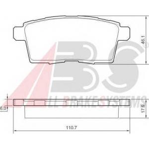 A.B.S. 37644 Комплект тормозных колодок, дисковый тормоз Мазда Ц-Икс 7