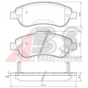 A.B.S. 37650 Колодка торм. дисковый тормоз (компл.) (пр-во ABS)