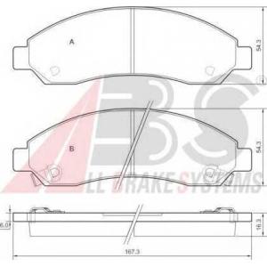 A.B.S. 37654 Комплект тормозных колодок, дисковый тормоз Исузу Д-Макс