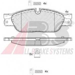 A.B.S. 37660 Комплект тормозных колодок, дисковый тормоз Ягуар С Тайп