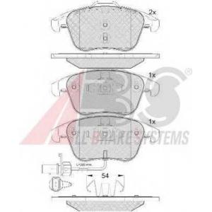 A.B.S. 37675 Комплект тормозных колодок, дисковый тормоз Ауди А4 Олроад