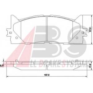 A.B.S. 37677 Комплект тормозных колодок, дисковый тормоз Мазда 3