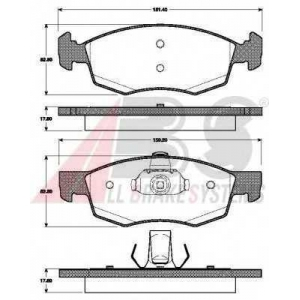 A.B.S. 37679 Комплект тормозных колодок, дисковый тормоз Дача Логан Mcb