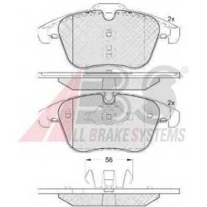 A.B.S. 37686 Комплект тормозных колодок, дисковый тормоз Ягуар