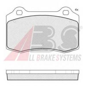 A.B.S. 37691 Комплект тормозных колодок, дисковый тормоз Ситроен Дс3